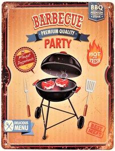 "2D bord ""Barbecue Party"" 33x25cm"