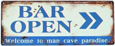 "2D bord ""Bar Open"" 20x50cm"