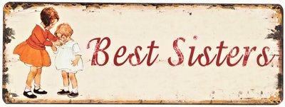"2D bord ""Best Sisters"" 13x36cm"