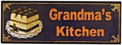 """2D bord """"Grandma's Kitchen"""" 13x36cm"""