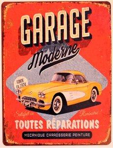 "2D bord ""Garage Moderne"" 33x25cm"