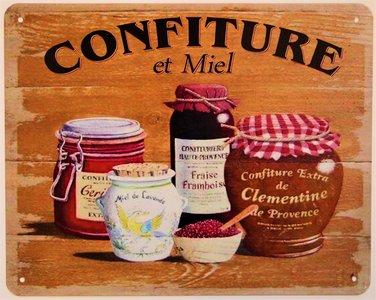 """2D bord """"Confiture et Miel"""" 20x25cm"""