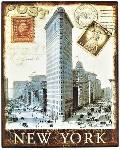 "2D bord ""New York"" 25x20cm"