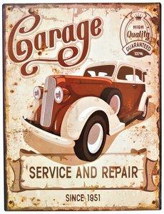"2D bord ""Garage Service and Repair"" 33x25cm"