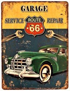 """2D bord """"Garage Service & Repair"""" 33x25cm"""