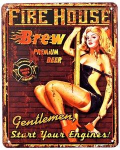 """2D bord """"Fire House"""" 25x20cm"""