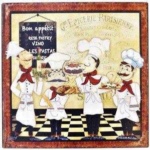 """2D bord """"Bon Appetit"""" 30x30cm"""