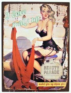 "2D bord ""I Love Make up"" 33x25cm"