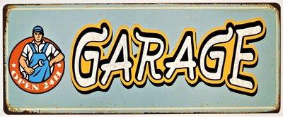 "2D bord ""Garage"" 20x50cm"
