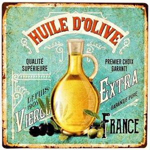 """2D bord """"Huile D'Olive"""" 30x30cm"""