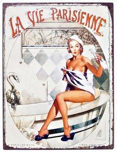 """2D bord """"La vie Parisienne"""" 33x25cm"""