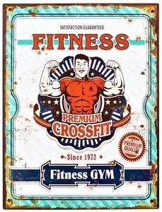 "2D bord ""Fitness"" 33x25cm"