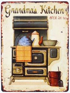 """2D bord """"Grandma's Kitchen"""" 33x25cm"""