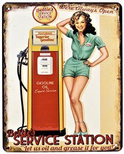 "2D bord ""Bettie's Service Station"" 20x25cm"