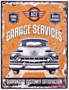"""2D bord """"Garage Services"""" 33x25cm"""