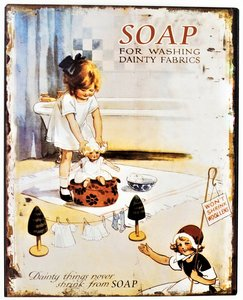 "2D bord ""Soap for washing dainty fabrics"" 25x20cm"