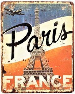 """2D bord """"Paris France"""" 25x20cm"""