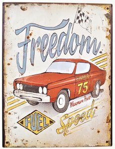 """2D bord """"Freedom and Speed"""" 33x25cm"""