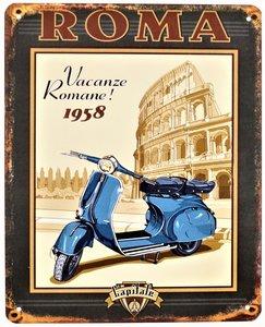 """2D bord """"Roma Vacanze Romane! 1958"""" 25x20cm"""