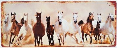 "2D bord ""Paarden"" 20x50cm"