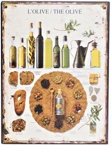 "2D bord ""L'Olive/The Olive"" 33x25cm"