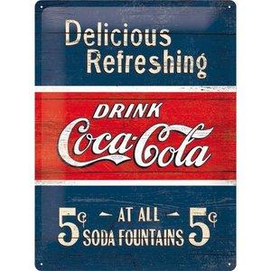 Coca Cola 1910 Delicious refreshing 30x40 cm