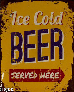 Ice cold beer, served here