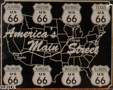 Route 66 America's Main Street 25x20