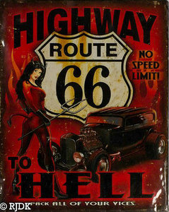 Route 66 Highway to Hell 25x20