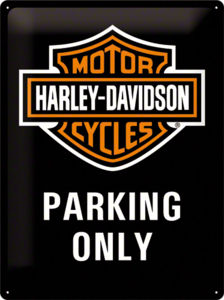 Harley Davidson Parking Only Black NA23130