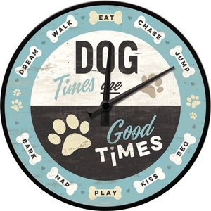 Wall Clock Dog Times NA51089