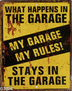 My garage My Rules geel