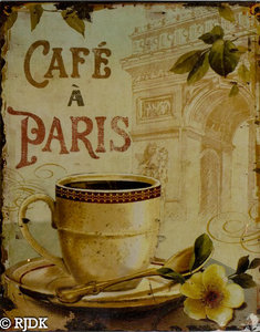 Cafe a Paris 25x20