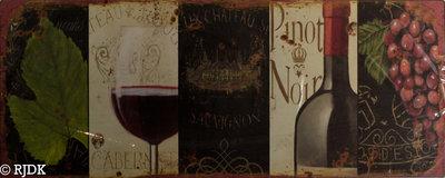 Wijn glas & fles