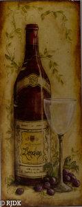 Wijn Fles met druiven