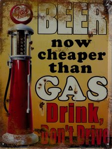 Beer now cheaper than Gas 33x25