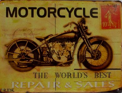Motorcycle, The worlds best repair and sales 33x25
