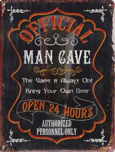 Official Man Cave 33x25