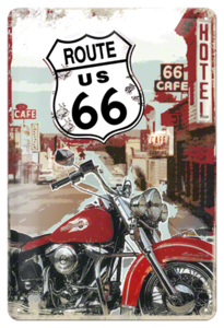Route 66 Lone Rider 30x20 3D