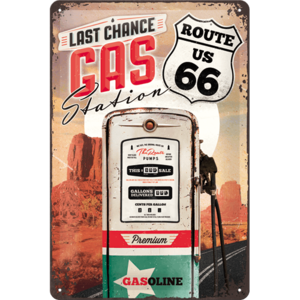 "3D bord ""Route 66 Gas Station"" 30x20cm"