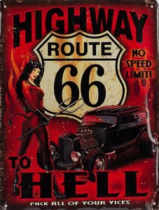 Route 66 Highway to Hell 33x25