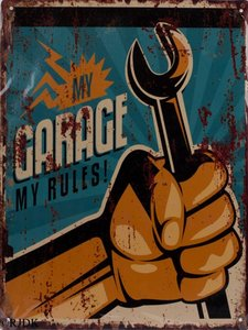 My garage My rules (steeksleutel) 33x25