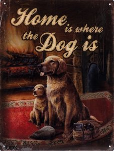 Home is where the dog is 33x25