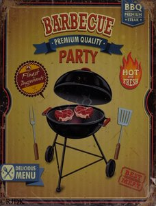 Barbecue party 33x25