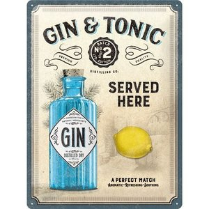 Gin Tonic Here 30x40 3D