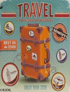 "2D bord ""Travel"" 33x25cm"