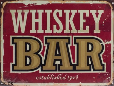 Whiskey Bar 25x33