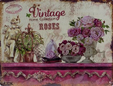 "Vintage Home Collection ""Roses"" 25x33"