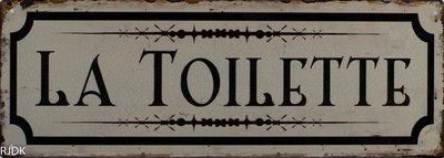 La Toilette 13x36