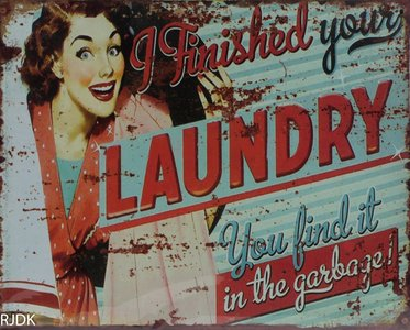 I finished your laundry 20x25